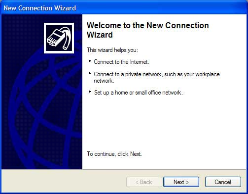 New Connection Wizard